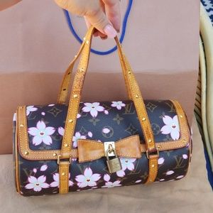 Louis Vuitton Papillion cherry-blossom bag